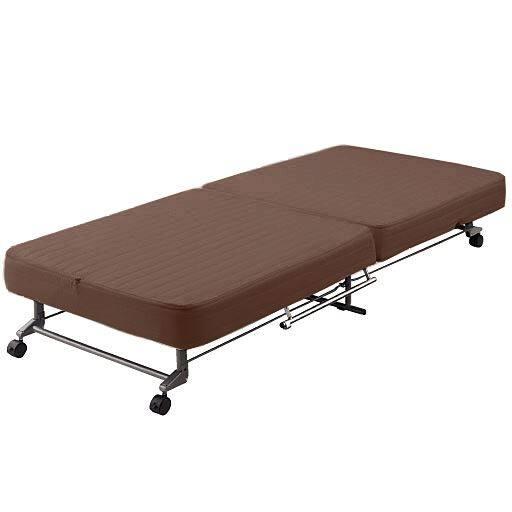 折りたたみベッド(洗えるカバー付き) ■カラー:ブラウンの写真