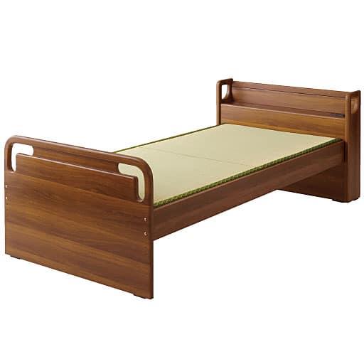 高さ調整ベッド(立ち座りしやすい) ■カラー:ブラウン ナチュラル ■サイズ:A(シングル/すのこ),B(シングル/畳)と題した写真