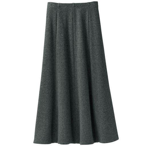 <セシール> 【レディース】 <めちゃぬく>8枚はぎのドレープスカート - セシール ■カラー:チャコールグレー ■サイズ:M(64-70)