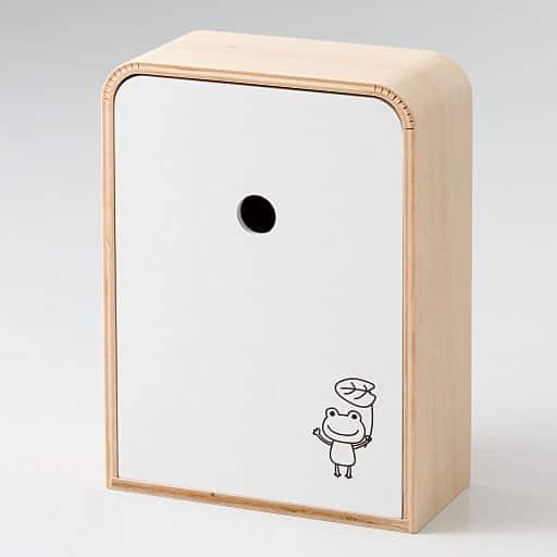 木製玄関キーボックス - セシール ■カラー:カエル) B(フクロウ
