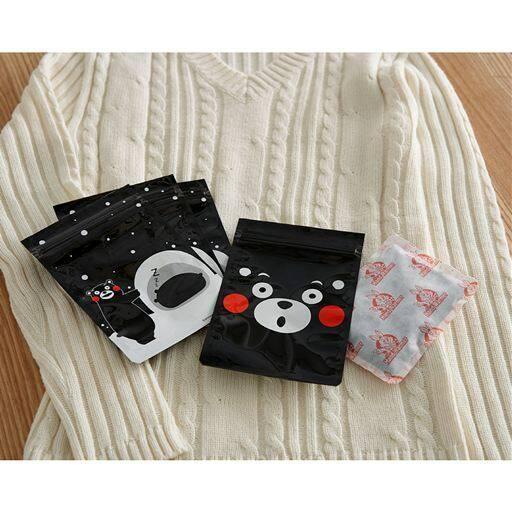 使い捨てカイロ冬眠ポーチ(くまモン) - セシール ■サイズ:16枚組