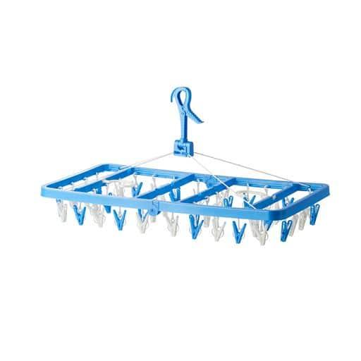 角ハンガー サイドフック付き - セシール ■カラー:ブラウン ブルー ホワイト ■サイズ:B(42ピンチ/大型タイプ),C(60ピンチ/超大型タイプ)