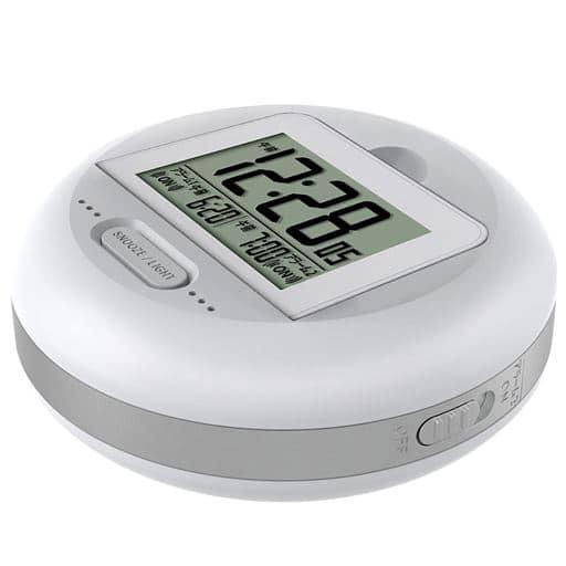振動アラームクロック(目覚まし時計) - セシール ■カラー:ホワイト