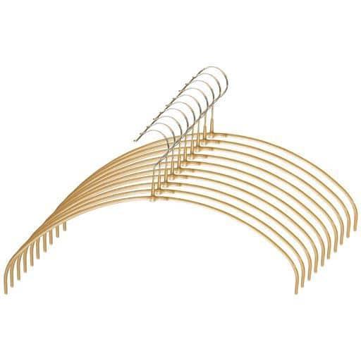 MAWA(マワ)ハンガー ランドリー10本組 - セシール ■カラー:ゴールド シルバー ■サイズ:A(ラウンド),B(シルエット)