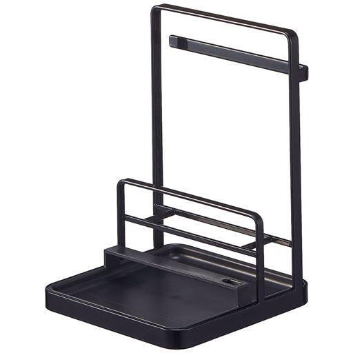 鍋蓋&キッチンツールスタンド - セシール ■カラー:ブラック