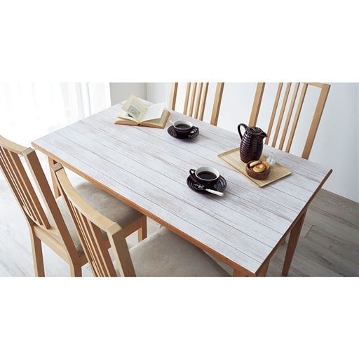 テーブルデコレーションシート/貼って剥がせる - セシール ■サイズ:B(エイジドウッド),C(寄木),D(透明)