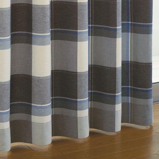 チェック柄ナチュラルカーテン ■カラー:グリーン系) B(ブルー系 ■サイズ:幅100×丈110(2枚組),幅100×丈120(2枚組),幅100×丈135(2枚組),幅100×丈150(2枚組),幅100×丈170(2枚組),幅100×丈178(2枚組),幅100×丈185(2枚組),幅100×丈190(2枚組),幅100×丈195(2枚組),幅100×丈200(2枚組),幅100×丈205(2と題した写真