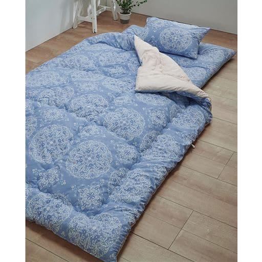 布団セット(清潔多機能) - セシール ■カラー:ブルーB(オーナメント) ピンクA(チェック) ブルーA(チェック) ■サイズ:和式セット(シングル)