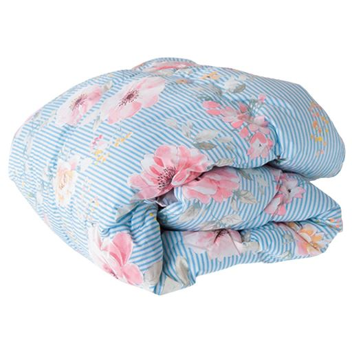 洗える清潔機能肌布団 - セシール ■カラー:ブルー イエロー ■サイズ:シングル(140×190cm)