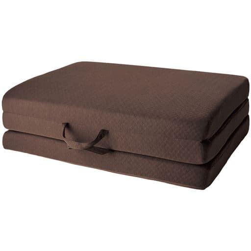 高反発ボリュームマットレス(三つ折れタイプ) - セシール ■カラー:ブラウン ■サイズ:シングル(97×195×厚さ10cm)