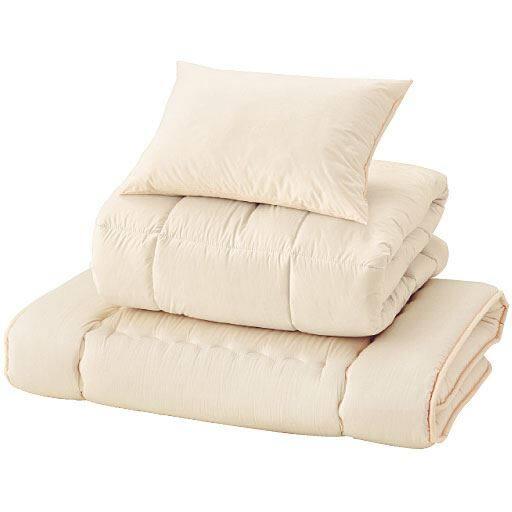 布団3点セット(掛け・敷き・枕)高密度防ダニ「ハースマリー®」 ■カラー:ソフトピンク アイボリー ■サイズ:シングルの写真
