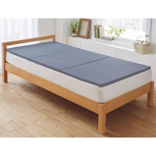 高反発マットレス(選べるシリーズ)/寝返りラクラク - セシール ■カラー:ブルー ■サイズ:シングルA(95×195cm)厚さ3cm,シングルB(95×195cm)厚さ6cm,シングルC(95×195cm)厚さ9cm,ダブルA(135×195cm)厚さ3cm