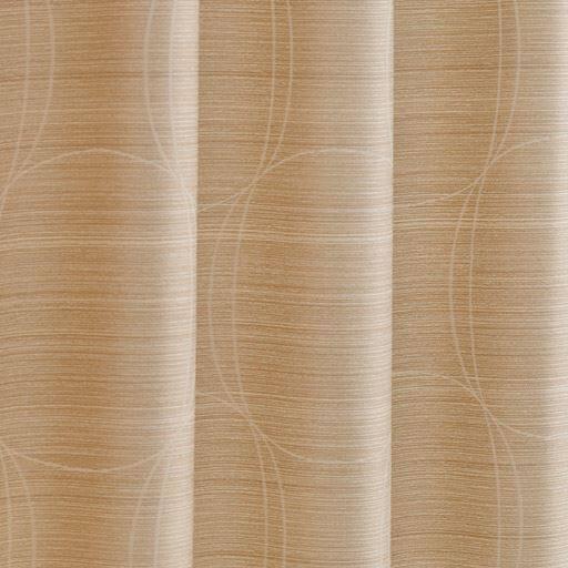 〔形状記憶付き〕モダンサークル柄ジャカード織りカーテン ■カラー:ダークブラウン ベージュ ■サイズ:幅100×丈90(2枚組),幅100×丈110(2枚組),幅100×丈120(2枚組),幅100×丈135(2枚組),幅100×丈150(2枚組),幅100×丈170(2枚組),幅100×丈178(2枚組),幅100×丈185(2枚組),幅100×丈190(2枚組),幅100×丈195(2枚組),と題した写真