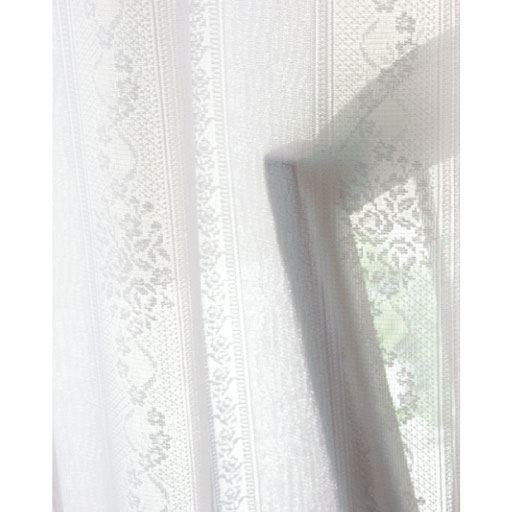 〔形状記憶付き〕バラとストライプのUVカット遮熱保温・遮像レースカーテン - セシール ■カラー:ホワイト ■サイズ:幅200×丈213(1枚物),幅200×丈223(1枚物),幅100×丈88(2枚組),幅100×丈108(2枚組),幅100×丈118(2枚組),幅100×丈133(2枚組),幅100×丈148(2枚組),幅100×丈168(2枚組),幅100×丈176(2枚組),幅100×丈183(2枚組),幅100×丈188(2枚組),幅100×丈193(2枚組),幅100×丈198(2枚組),幅1