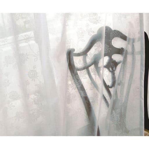 〔形状記憶付き〕UVカット防炎ミラーレースカーテンと題した写真