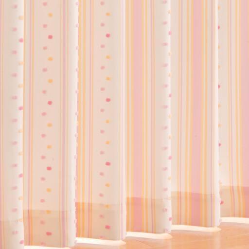 ポンポン付カジュアルカーテン ■カラー:ピンク グリーン ■サイズ:幅100×丈90(2枚組),幅100×丈110(2枚組),幅100×丈120(2枚組),幅100×丈135(2枚組),幅100×丈150(2枚組),幅100×丈170(2枚組),幅100×丈178(2枚組),幅100×丈185(2枚組),幅100×丈190(2枚組),幅100×丈195(2枚組),幅100×丈200(2枚組),幅1と題した写真