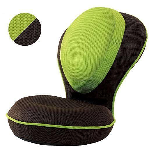 セシール背筋がGUUUN 美姿勢座椅子リッチ - セシール ■カラー:メッシュグリーン