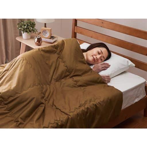 キャメル100%の暖か肌掛布団 - セシール ■サイズ:シングル
