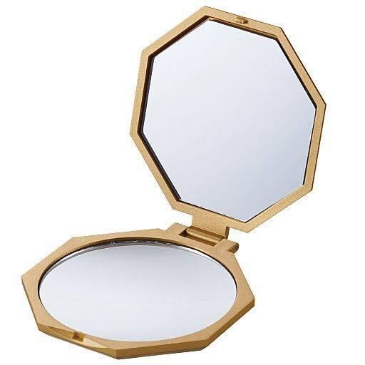 <セシール> 10倍拡大鏡 コンパクト八角ミラー画像
