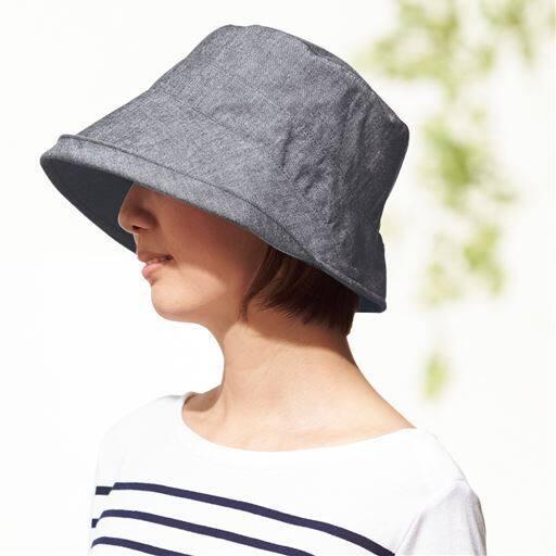 【レディース】 播州織の軽くてしっかり帽子 - セシール
