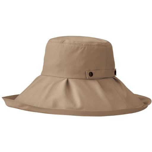 20%OFF【レディース】 21機能で小顔に見える遮熱遮光UVつば広帽子 ■カラー:ライトブラウン
