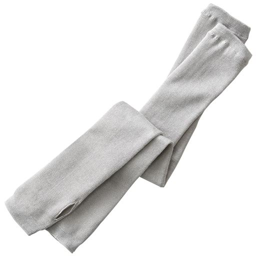 【レディース】 起毛シルクアームウォーマー/二の腕までカバー ズレ落ちにくい - セシール ■カラー:グレー