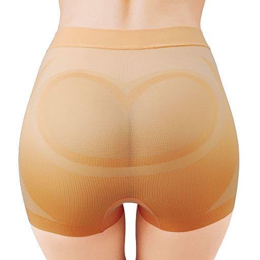 <セシール>【レディース】マカロンヒップ 骨盤ショーツガードル 1分丈 ■カラー:オレンジ ■サイズ:M、L、LL