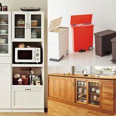 おしゃれキッチン インテリアのコツは、収納とゴミ箱がキモ!