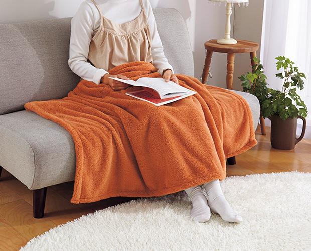 ひざ掛けとは、1メートル前後ほどの大きさで体を部分的に温めるもの