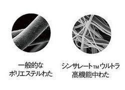 細かい繊維のすきまにたっぷりの空気を含みます