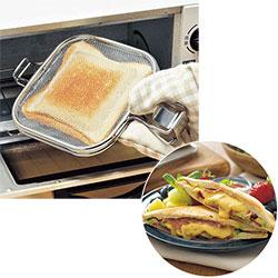 トースターや魚焼きグリルでホットサンドが焼ける
