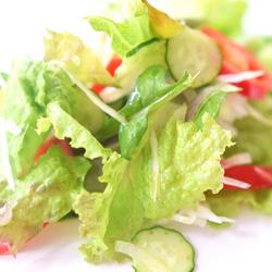 サラダはつけ合わせにするのが、見た目もきれい