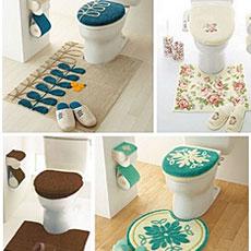 お気に入りの個室を作る トイレマットセットでトイレをステキ空間に