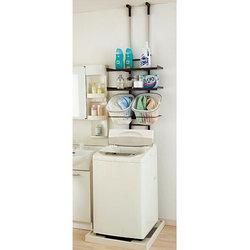 洗濯に関わるものは、洗濯機まわりに集合