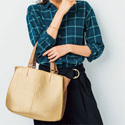 合成皮革のバッグは、使いかた次第