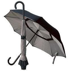 表がウラで裏がオモテのぬらさない傘です