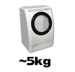 一人~二人暮らしサイズの洗濯機の場合
