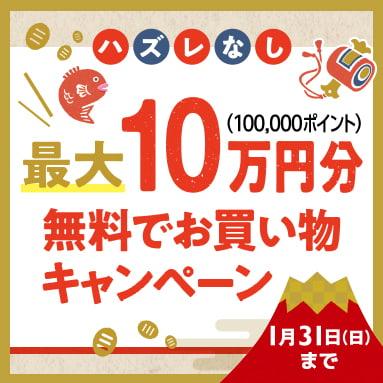 最大10万円分無料でお買い物キャンペーン