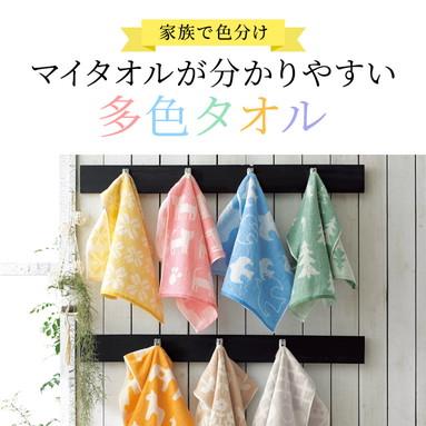マイタオルが分かりやすい多色タオル