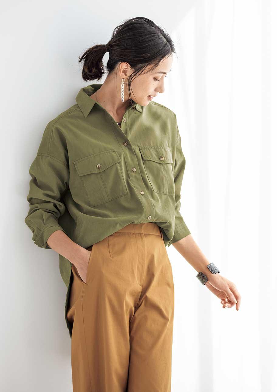 女性らしさを引き立てる落ち着きのあるアースカラー配色
