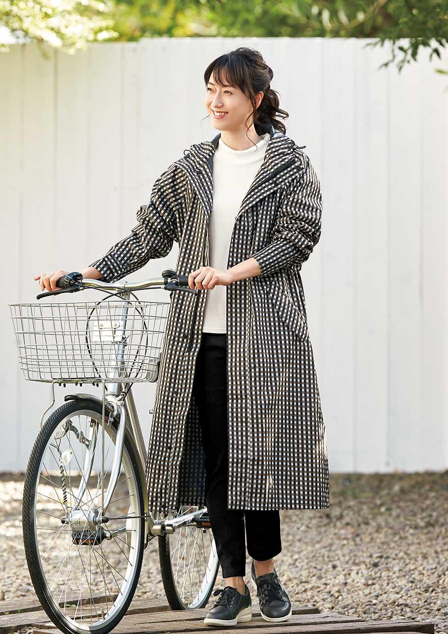本降りの雨でも自転車に乗れる!サイクル用のレインコート